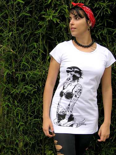 Max Camiseta Pin-up Tattoo | by Vudu! Moda Retrô, Rock & Tattoo