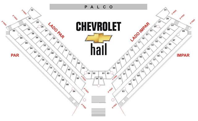 Chevrolet Hall Recife Mapa De Camarote Daniel Mendes