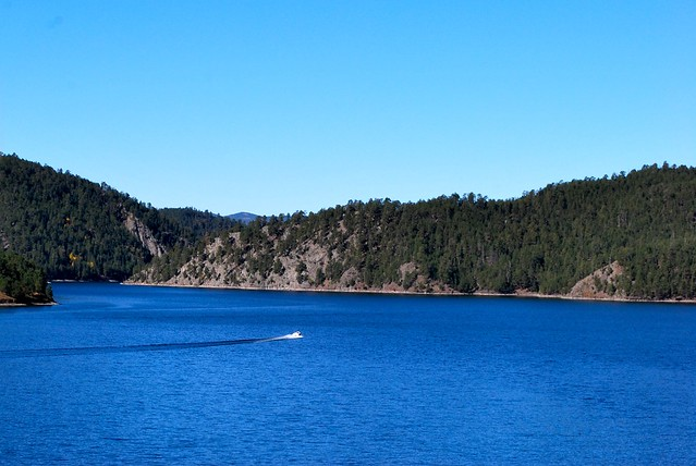 A blue day on pactola lake flickr photo sharing for Pactola lake cabins