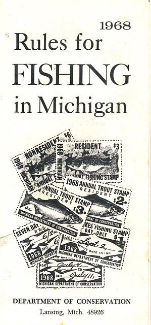 1968 michigan fishing license flickr photo sharing for Michigan fishing license online