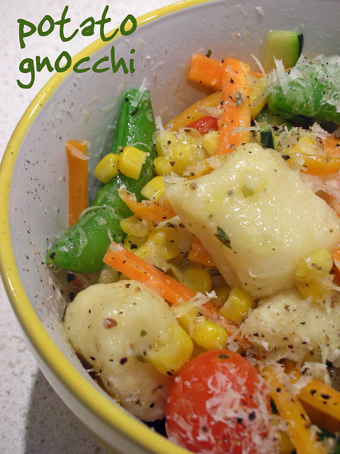 potato gnocchi with summer vegetables | Flickr - Photo ...