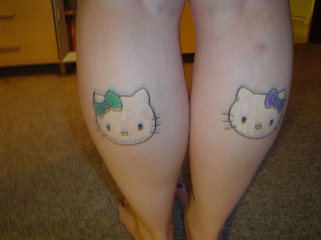 Blurry Pic Of My Hello Kitty Tattoos My Hello Kitty