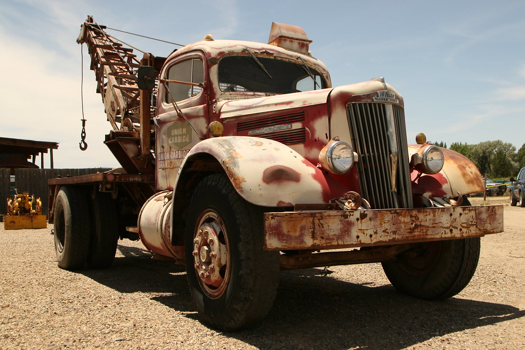 Ol' Reliable | I'm guessing this White Super Power truck ...