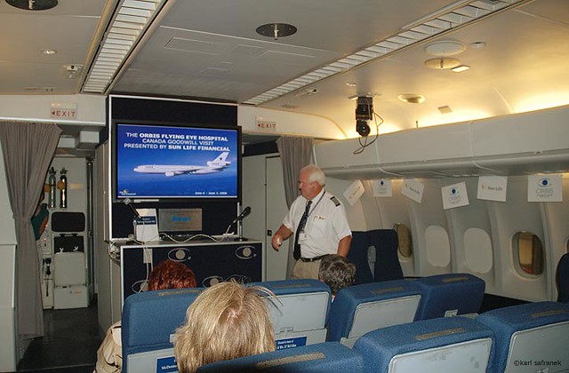 Orbis Dc 10 Interior View Of The Lecture Training Area