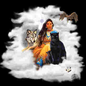 Maiden with Black Panther,Wolf, and Eagle | niteshader2008 | Flickr