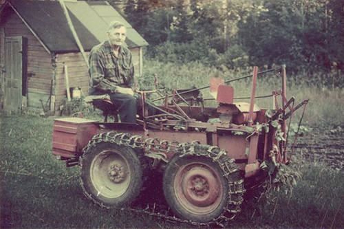 Willard Bay S Homemade Tractor Willard Bay 1893 1987