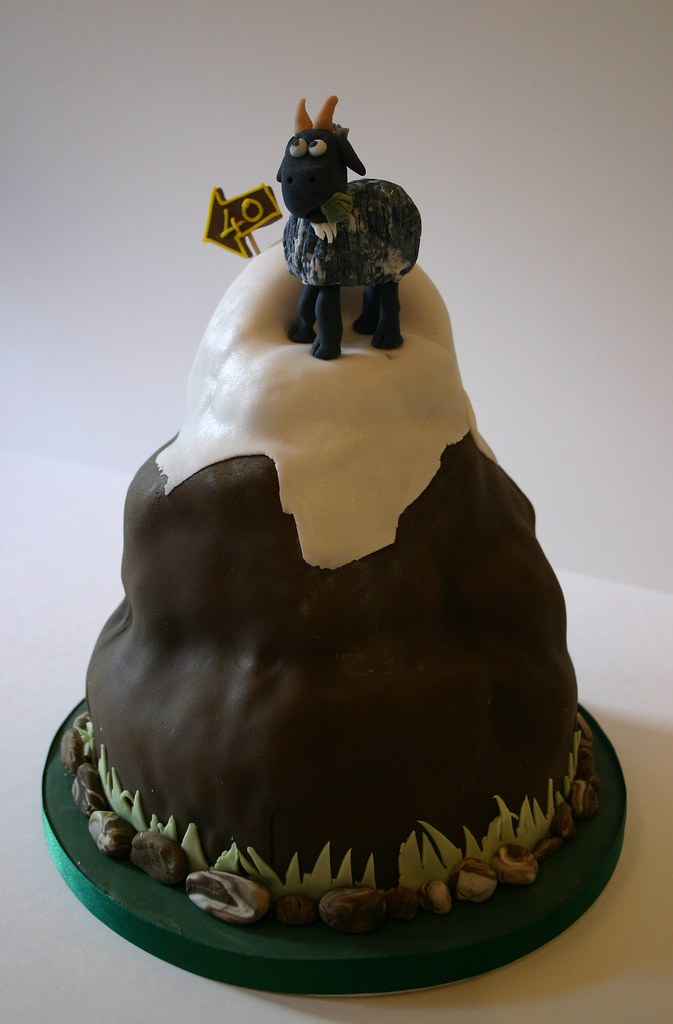 40 Goat Cake 40th Birthday Mountain Cake Decorated With