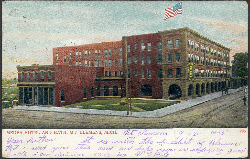 Bath house mt clemens mi medea hotel and bath house named for Bath house michigan