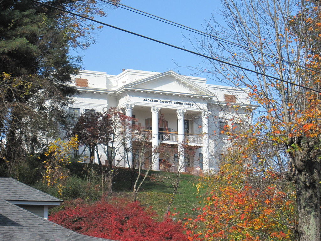 Old jackson county nc courthouse in sylva being renovate