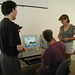 Professor Jack Reilly and students working in Art Computer Lab