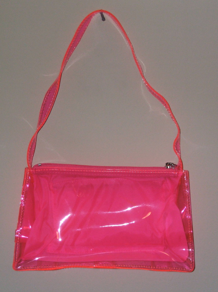 Hot Pink Purse Hot Pink Plastic Purse