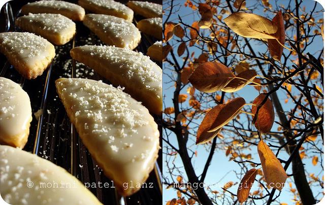 Leaf Shaped Mango Cookies