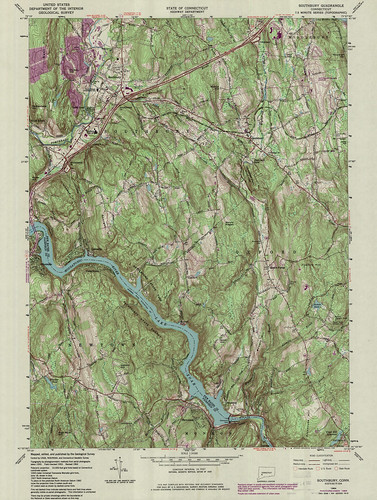 Southbury Quadrangle 1984 - USGS Topographic Map 1:24,000 | by uconnlibrariesmagic