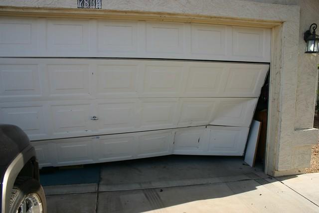... Wrecked Garage Door - by dr.coop