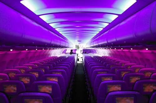 Virgin America Mood lighting | by crucially