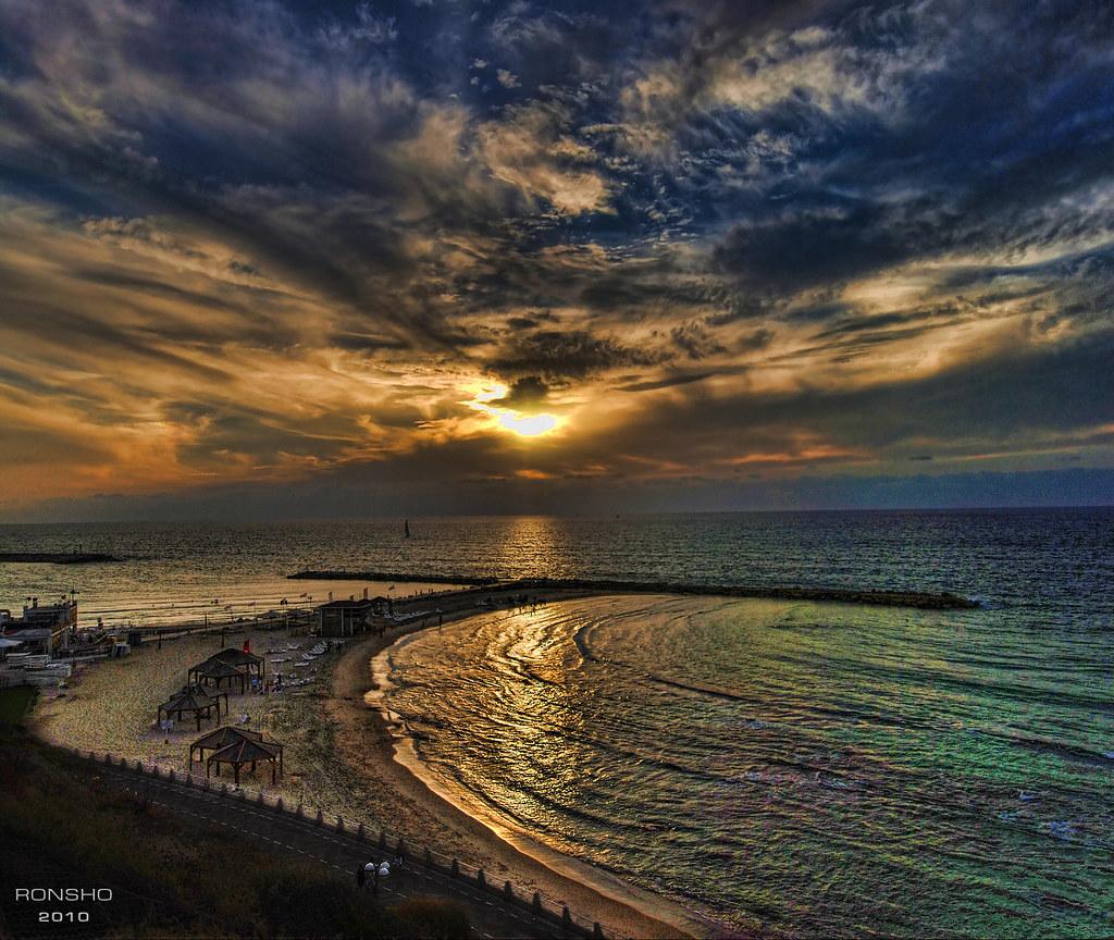 Tel Aviv Sunset Israel Hypnotizing Sunset At Hilton