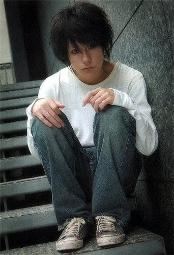 Death Note Movie: L   L from the Death Note Movie! He's so ...  Death Note Movi...
