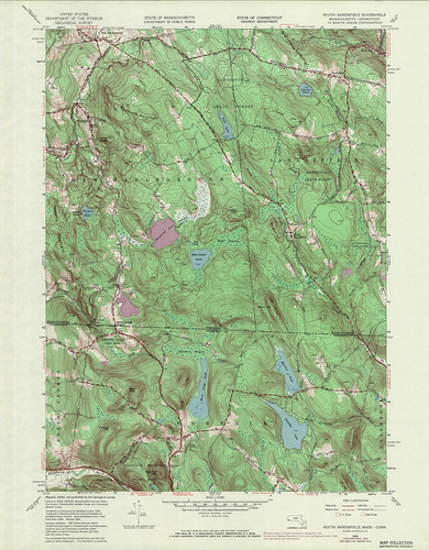 South Sandisfield Quadrangle 1969 - USGS Topographic Map 1:24,000 | by uconnlibrariesmagic