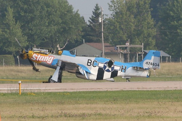Warbird Crash Clean Up Two P 51 Mustangs Approach The
