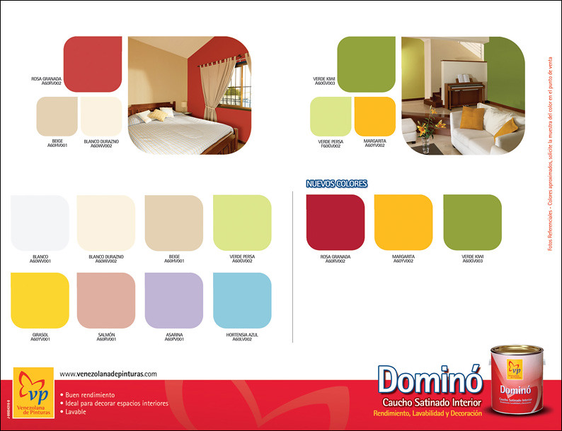 Carta de colores vp domino satinado retiro venezolana de for Pinturas bruguer colores
