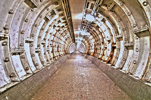 Greenwich Foot Tunnel London Artizen Hdr Fattal The