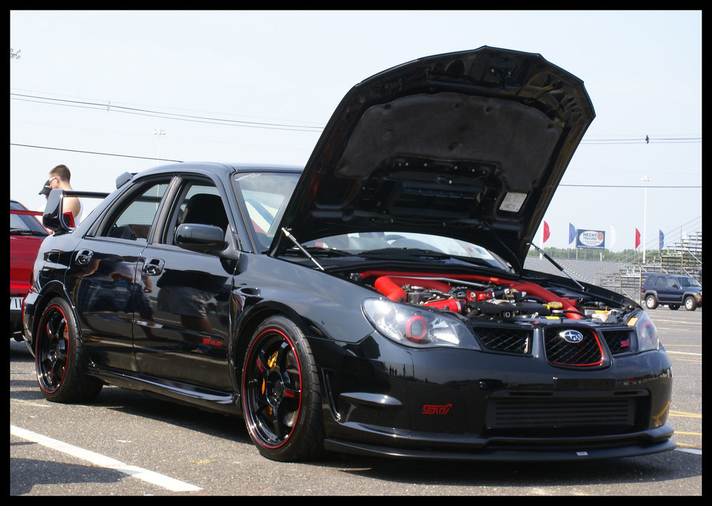 Black Beauty Sti Clean Sti At The Car Show Wrx Vs Evo Ra Flickr