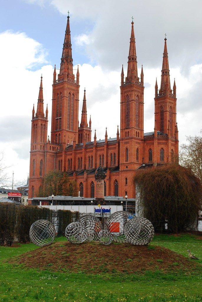 luthern market church wiesbaden the tallest structure in. Black Bedroom Furniture Sets. Home Design Ideas