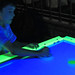 air hockey by black light