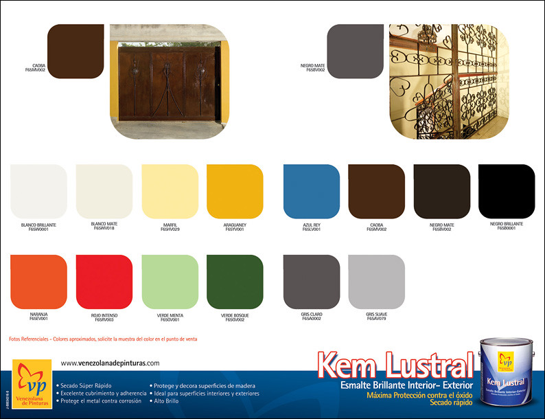 Carta de colores kem lustral vp retiro venezolana de for Cartilla de colores