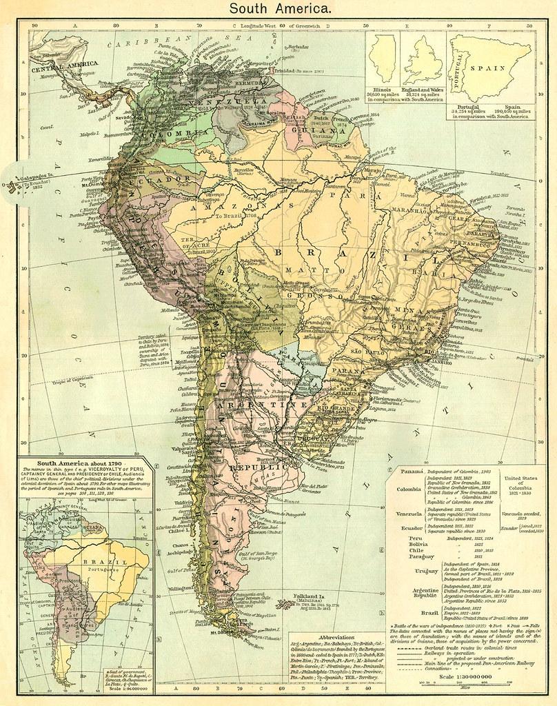 Mapa antiguo de Amrica del Sur mapa antigo da Amrica do  Flickr