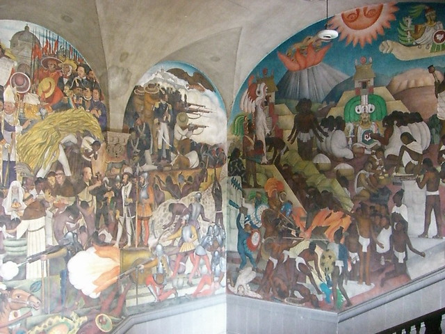 Palacio nacional national palace diego rivera 39 s mural for Diego rivera mural palacio nacional