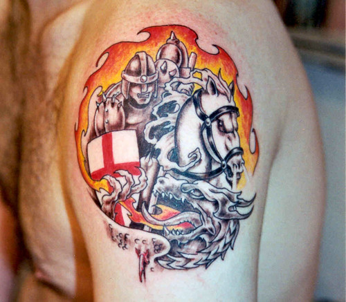 st george and dragon v1 tattoo flickr. Black Bedroom Furniture Sets. Home Design Ideas