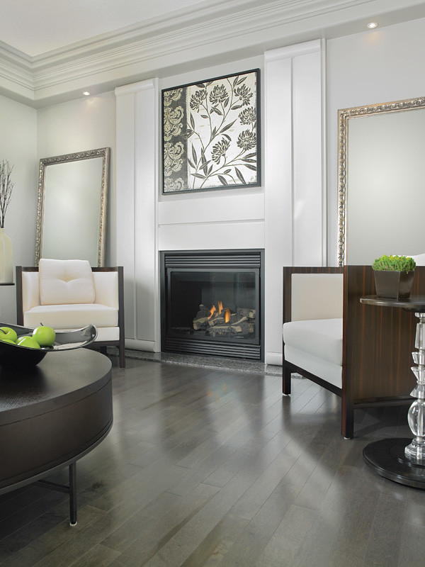 Mirage Maple Charcoal | Living Room with a Maple hardwood ...