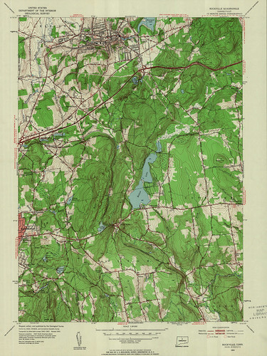 Rockville Quadrangle 1953 - USGS Topographic Map 1:24,000 | by uconnlibrariesmagic