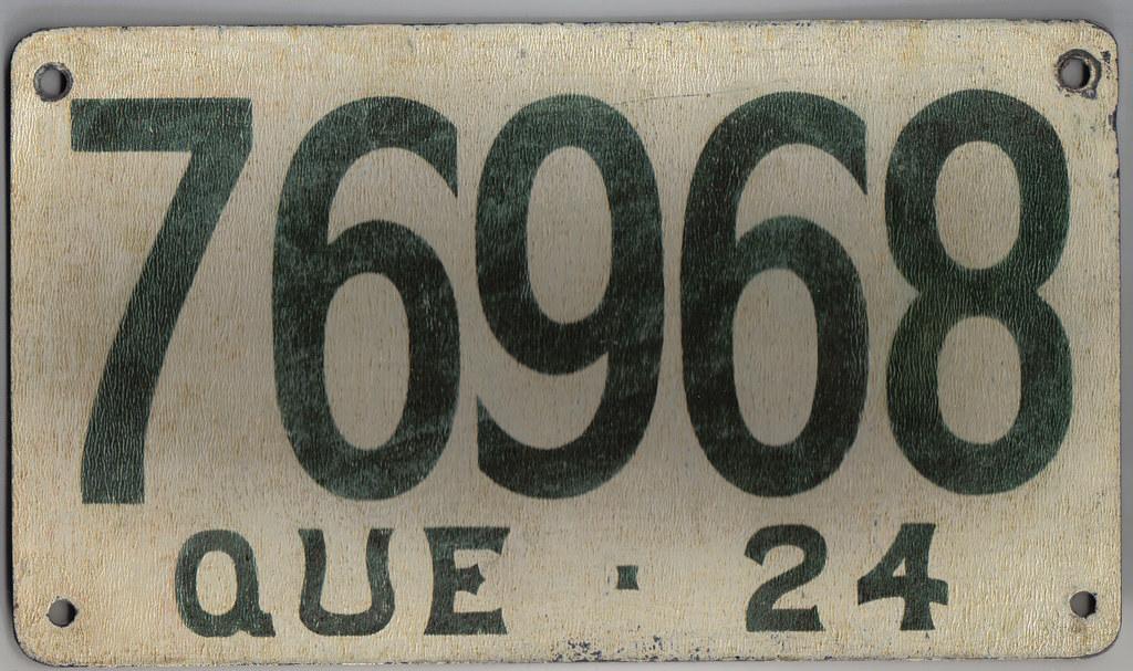 License Plate Camera >> QUEBEC 1924 license plate FIBREBOARD | 1924 Quebec passenger… | Flickr