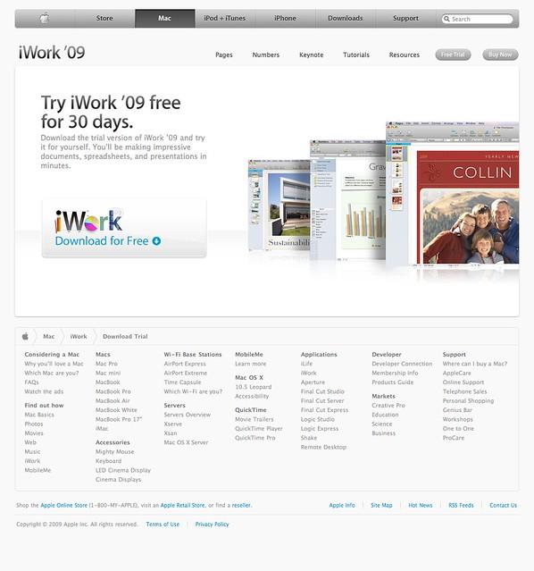 iwork trial