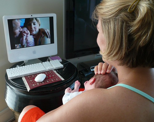 Baby-to-baby video conference | by Lars Plougmann