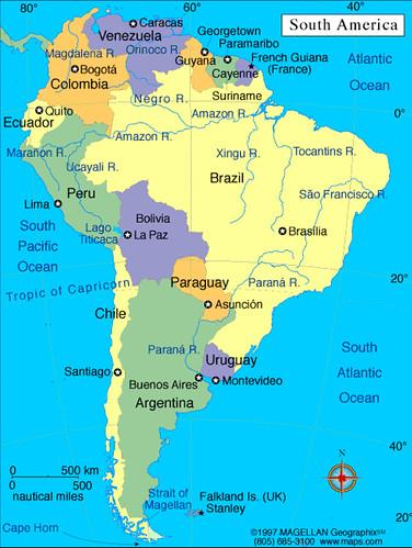 Espaol 2 actividad de mapas lessons tes teach mapa de amrica del sur mapa da amrica do sul map of south gumiabroncs Image collections