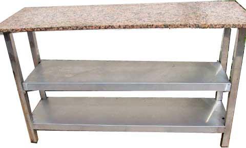 Mesa de trabajo central con sobre de marmol mesa con dos for Mesa de trabajo precio