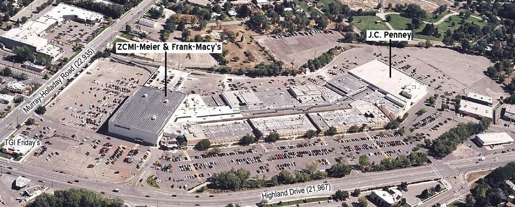 Cottonwood Mall Aerial Cottonwood Mall Holladay Utah