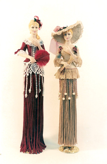 tassel doll these 2 tassel dolls were made from my