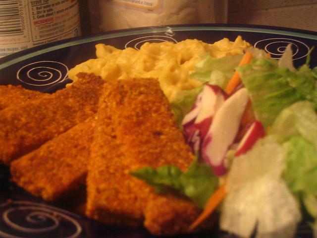 Tofu fish sticks and vegan mac and cheese nubianone for Mac s fish and chips