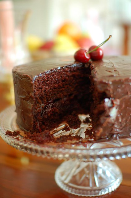 Chocolate Cherry Layered Bundt Cake With Pie Filling