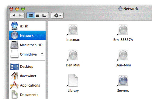 The Network section of the Mac Finder | by scriptingnews