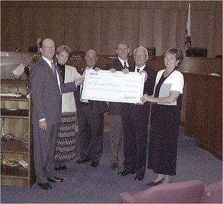 Richard Rush Receiving Check from Donors | by California State University Channel Islands