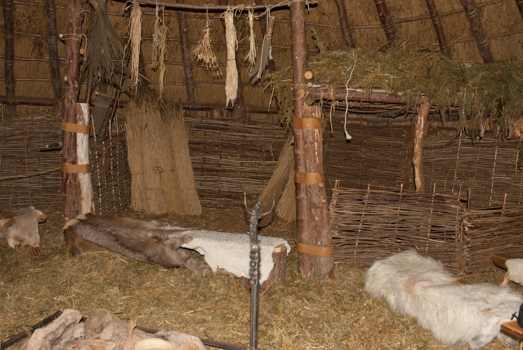Interior Of Crannog The Raised Platform Was Used As A