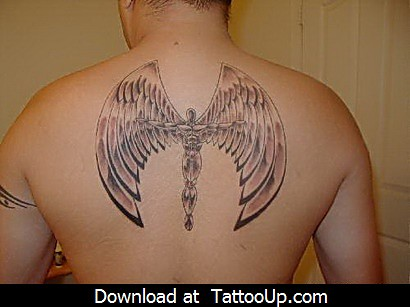 free printable angel tattoo designs angel tattoo angel ta flickr. Black Bedroom Furniture Sets. Home Design Ideas