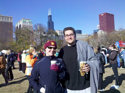 enjoying hot chocolate after the Hot Chocolate 15K | by notmargaret