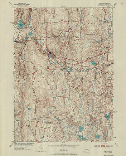Oneco Quadrangle 1953 - USGS Topographic Map 1:24,000 | by uconnlibrariesmagic