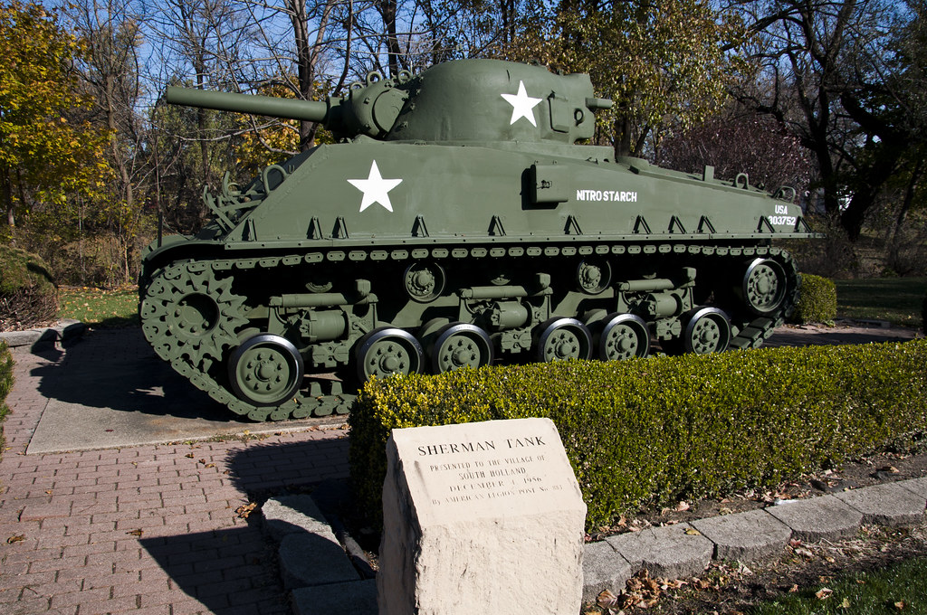 Sherman Tank At Veterans Memorial Park Vxla Flickr